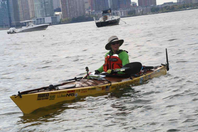 Maine grandmother Deb Walters is kayaking all the way to Guatemala to raise funds for the organization Maine-based non-profit Safe Passage, which raises funds to help families making a living in Guatemala City's garbage dump.