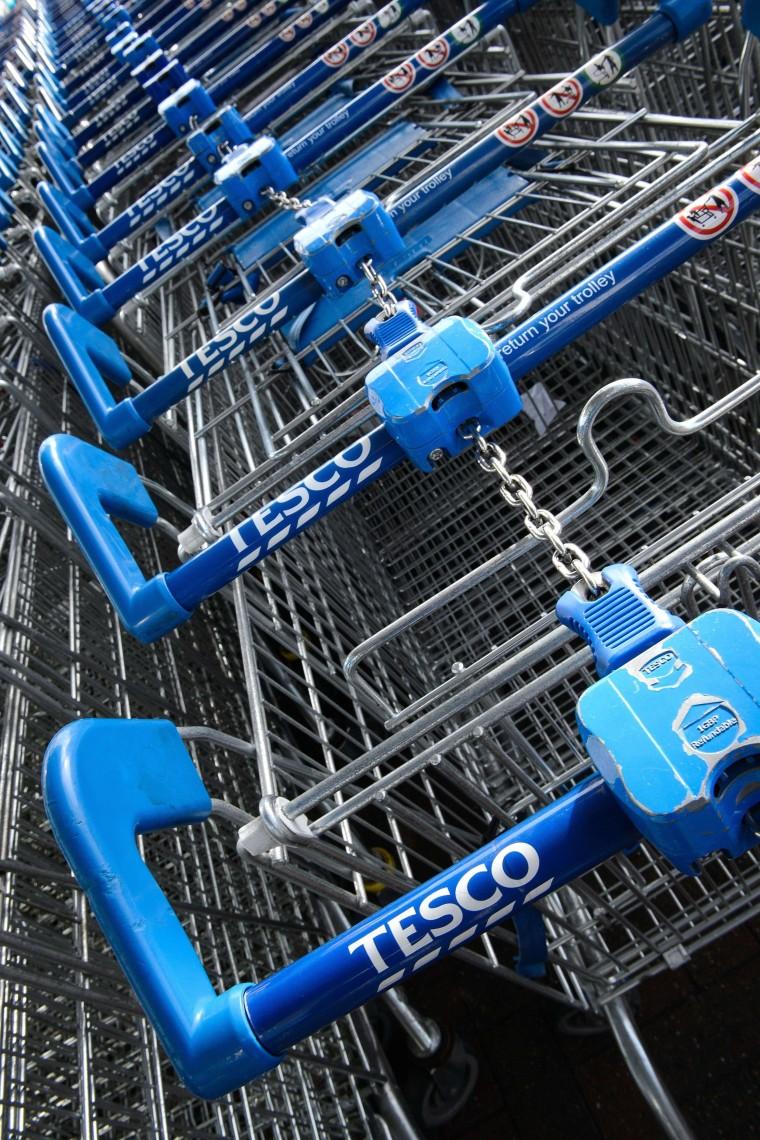 Image: Tesco shopping trolleys