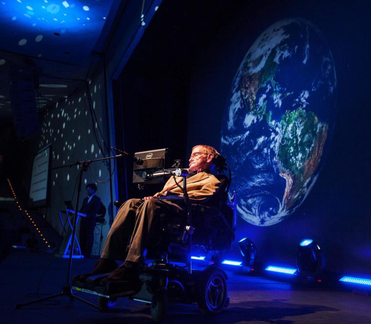 Image: Hawking at Starmus Festival