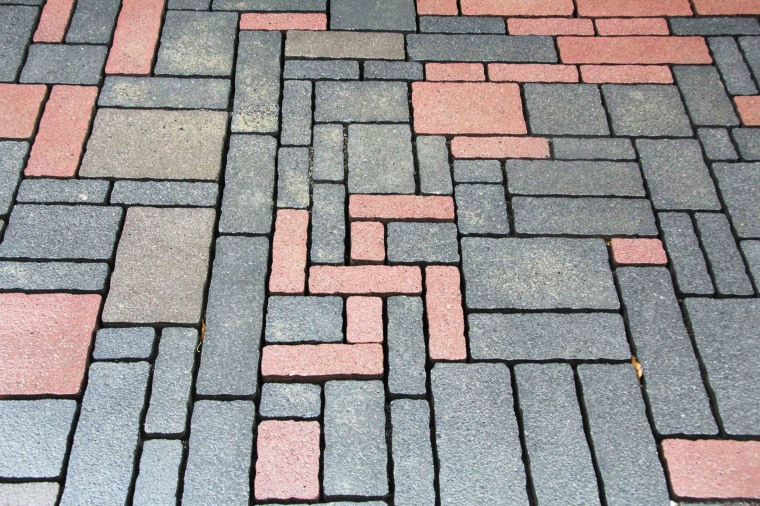 Image: Bricks in the shape of a swastika in Goslar, Germany