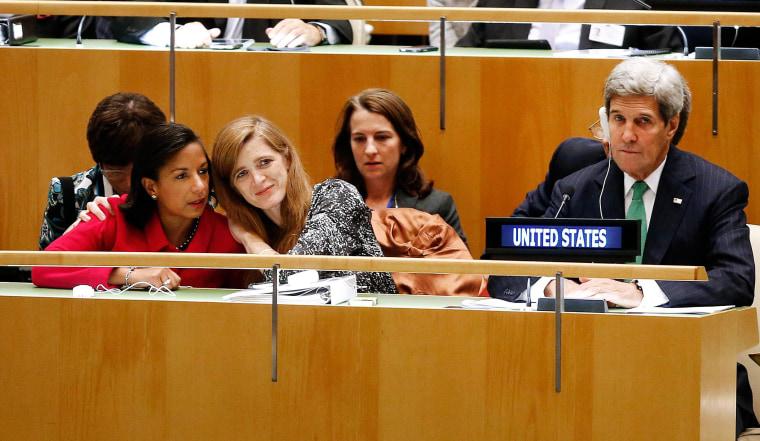 Image: Samantha Power, Susan Rice, John Kerry