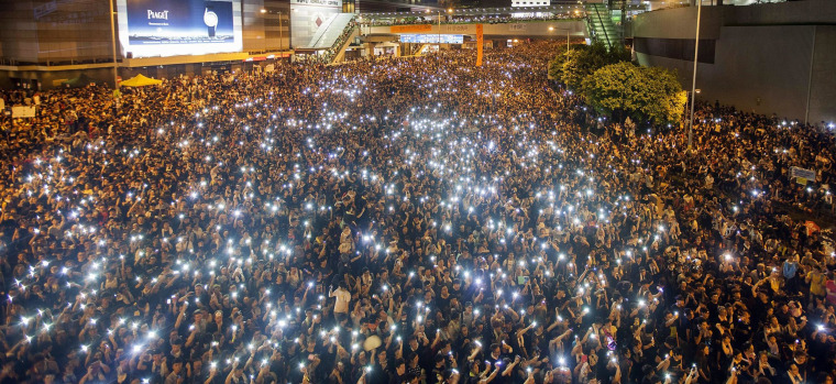Image: Hong Kong sees second day of mass protests for Occupy Hong Kong.