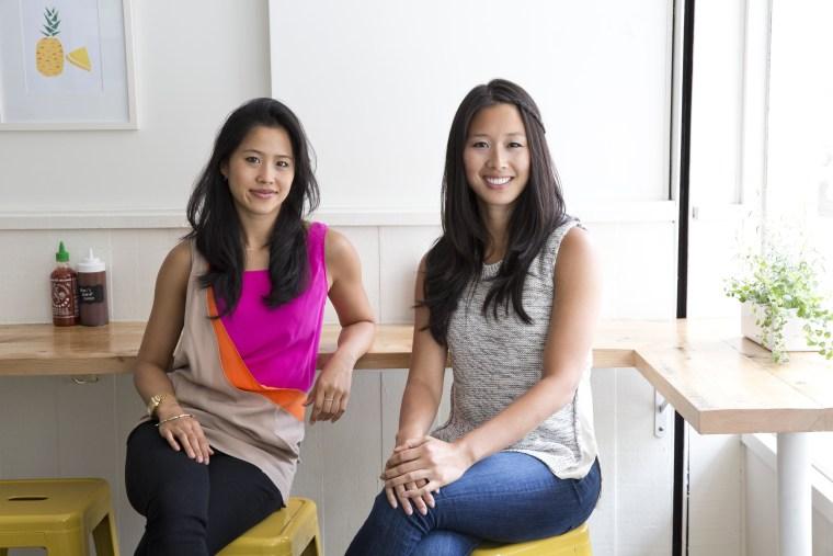 Sister entrepreneurs Marian and Hannah Cheng of Mimi Cheng's dumpling shop.