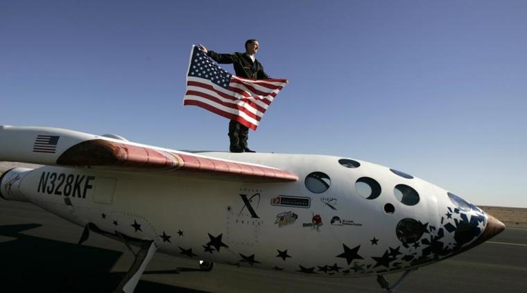 Image: Brian Binnie on SpaceShipOne