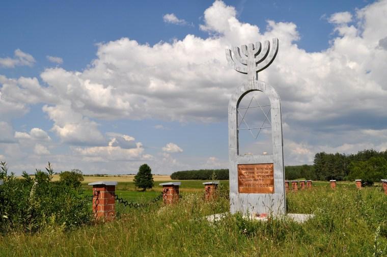 The memorial at Wasosz, Poland.