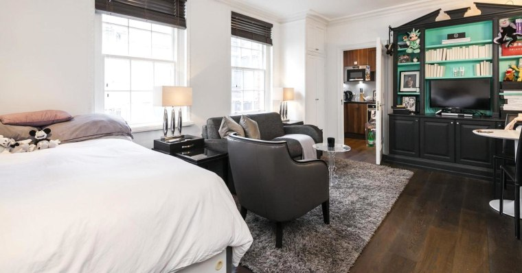 A studio apartment the size of a parking space has gone on sale in London for more than five times the average U.K. house price.