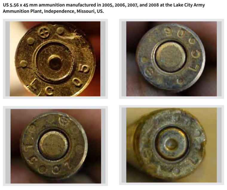 Ammunition manufactured at the Lake City Army Ammunition Plant in Independence, Missouri, was found at ISIS firing positions in northern Iraq.