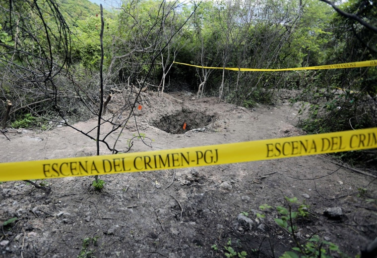 Image: A grave in Pueblo Viejo, on the outskirts of Iguala