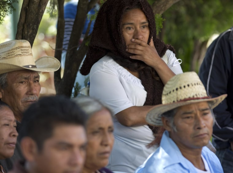 Image: Relatives of students reported missing after a violent confrontation in Iguala with police