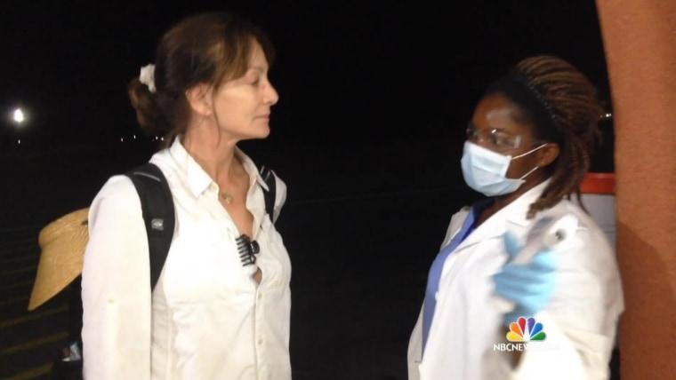 Dr Nancy Snyderman reporting on Ebola in Liberia.