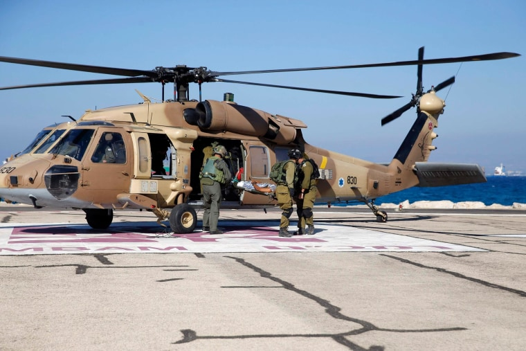 Image: Injured Israeli soldier is evacuated to a hospital in Haifa
