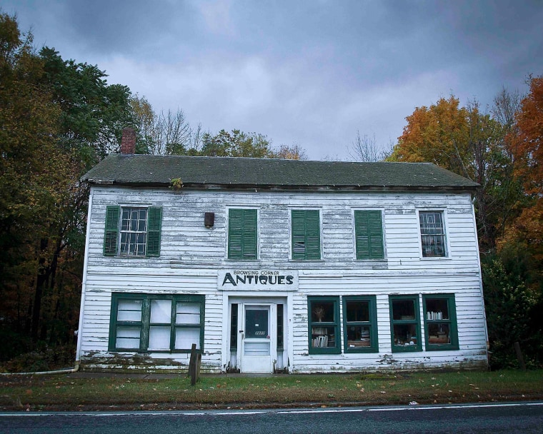Image: An abandoned business is pictured in the Catskills region of New York