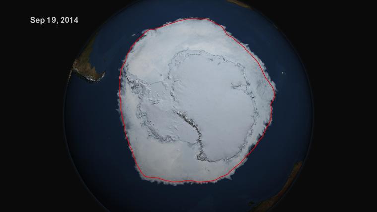 Image: Sea ice extent in Antarctica