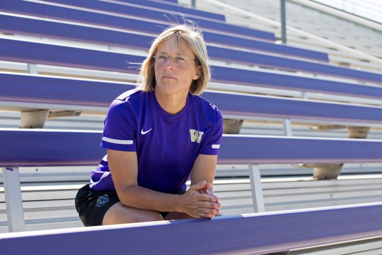 Image: Amy Griffin, associate head coach for the women's soccer team at the University of Washington