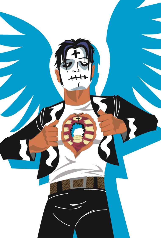 "The comic book character Diego de la Muerte, from the comic book ""El Muerto,"" by Javier Hernandez."