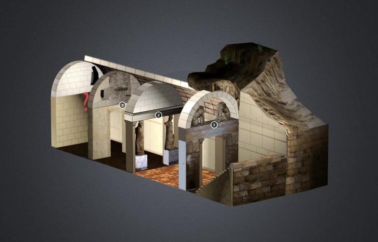 Image: Greektoys model of Amphipolis tomb