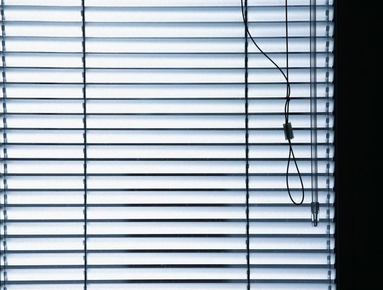A shut window blind in an office building in Frankfurt Main, Germany, on March 4, 2007.