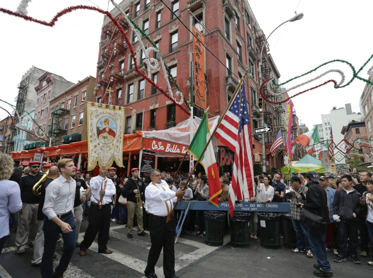 Image: The San Gennaro Grand Procession passes through New York's Little Italy
