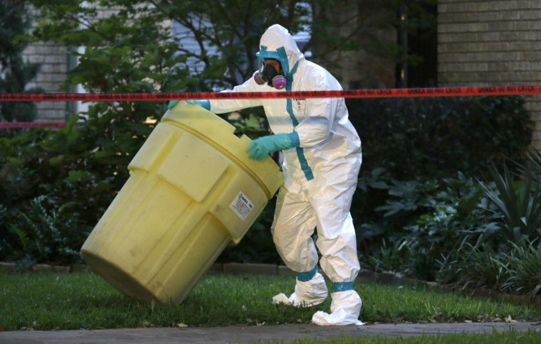 Decontamination Begins at New Ebola Patient's Home