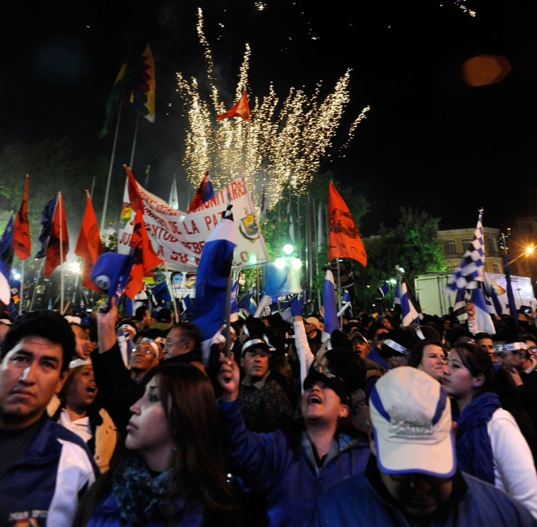 Image: BOLIVIA-ELECTIONS-MORALES-JUBO