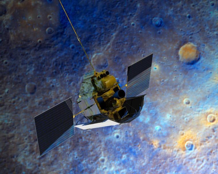 Image: Messenger probe at Mercury