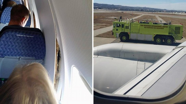 Passenger Jet's Wall Panels Come Loose During Flight