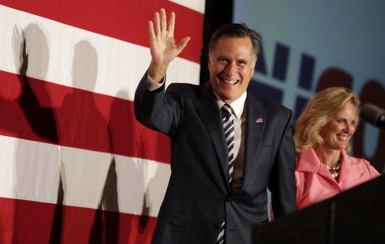 Image: Mitt Romney, Ann Romney
