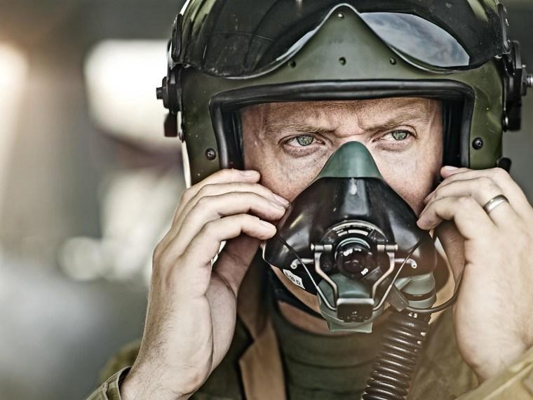 A British Tornado pilot at Kandahar airfield.