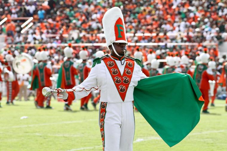 Image: Florida A&M Marching 100 Drum Major Robert Champion