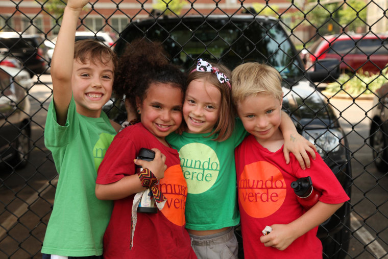 Students at Mundo Verde, a Spanish-language immersion charter school in Washington, DC.