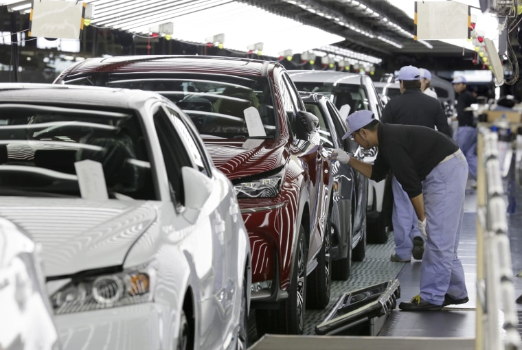 Image: Toyota's Lexus NX is lined off