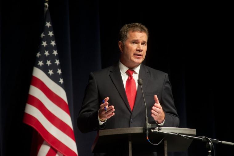 Image: Iowa Senate Candidates Bruce Braley and Joni Ernst Debate in Davenport