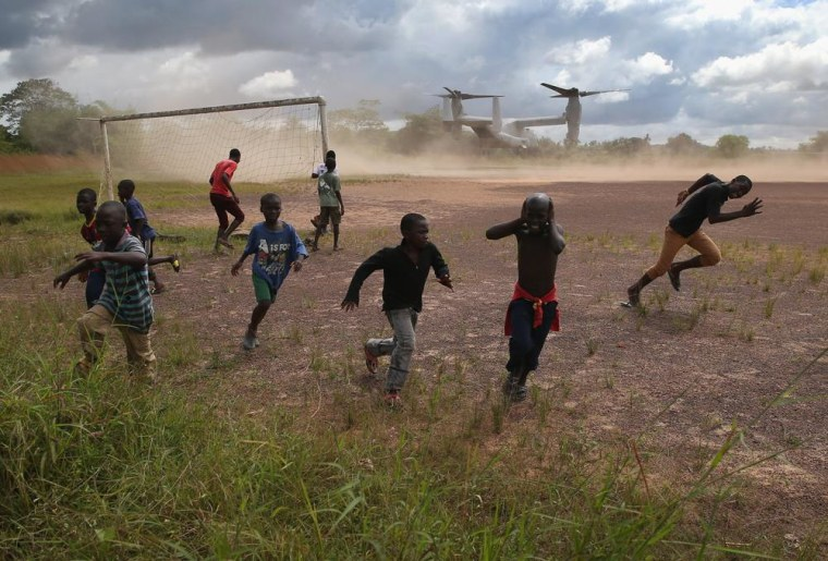 Image: Liberia Races To Expand Ebola Treatment Facilities, As U.S. Troops Arrive