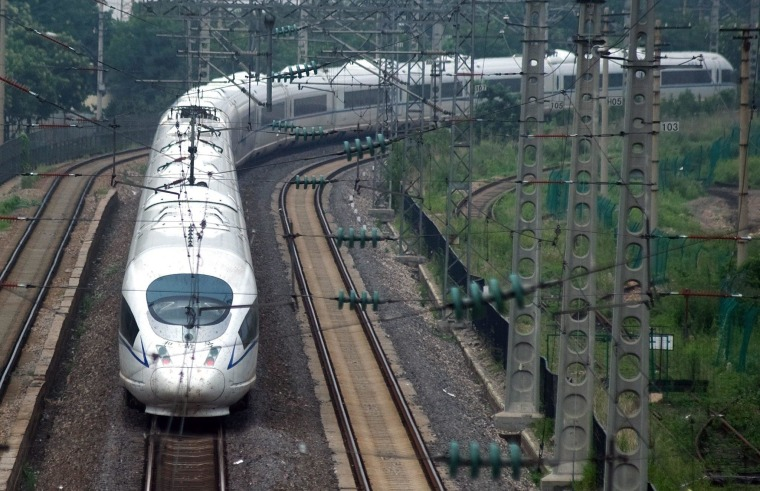 Image: China accelerates construction of high-speed railways