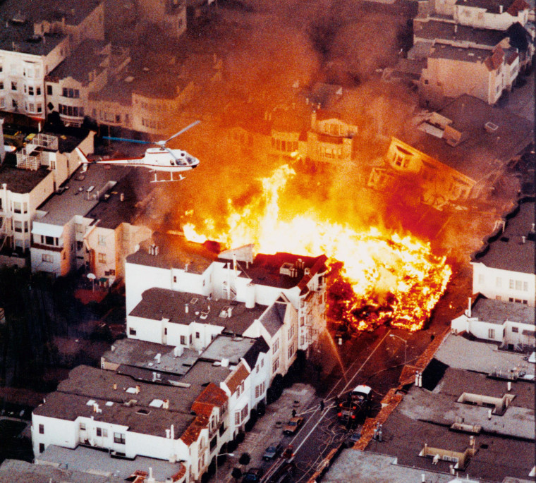Image: San Francisco's Marina District Fire after the 1989 Loma Prieta earthquake