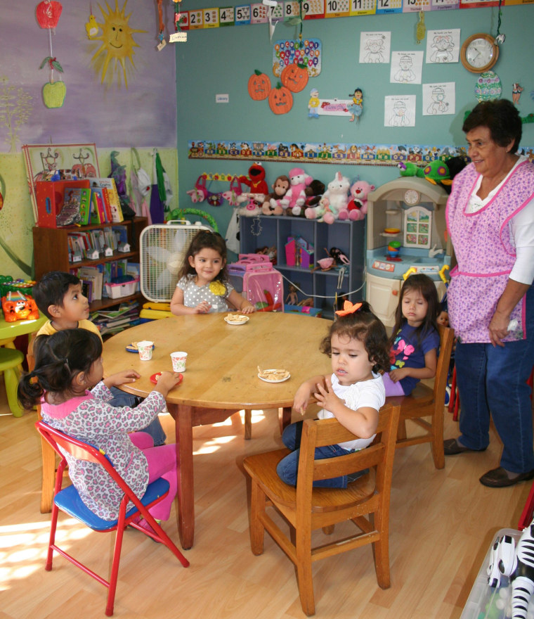 Child care at Neighbors Link allows immigrant parents to take classes.