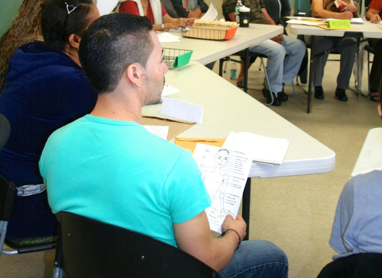 One of the classes offered at Neighbors Link, in Stamford CT, which provides education, assistance and resources to immigrant families in the area.