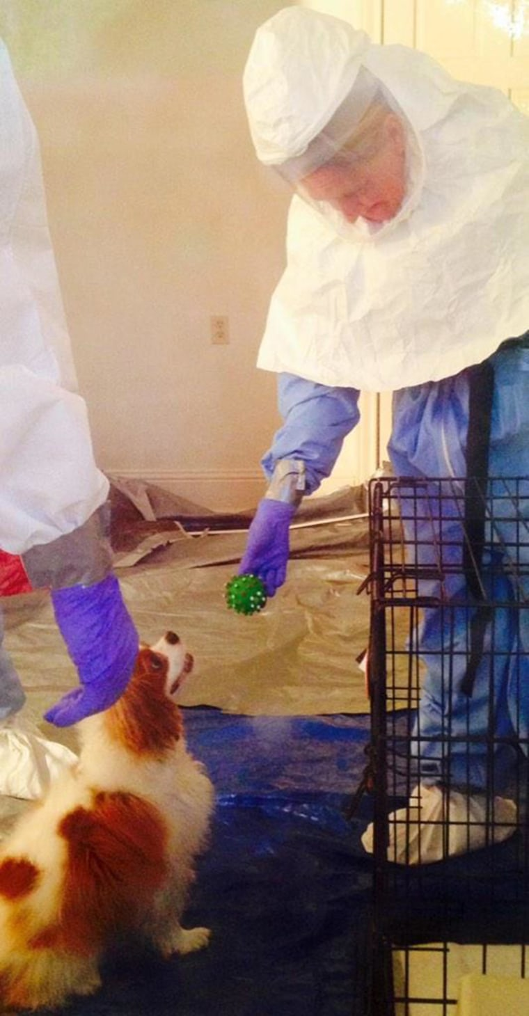 The dog belonging to Nina Pham, the Dallas nurse who contracted Ebola after treating Thomas Eric Duncan, has shown an upbeat and positive attitude during his quarantine.