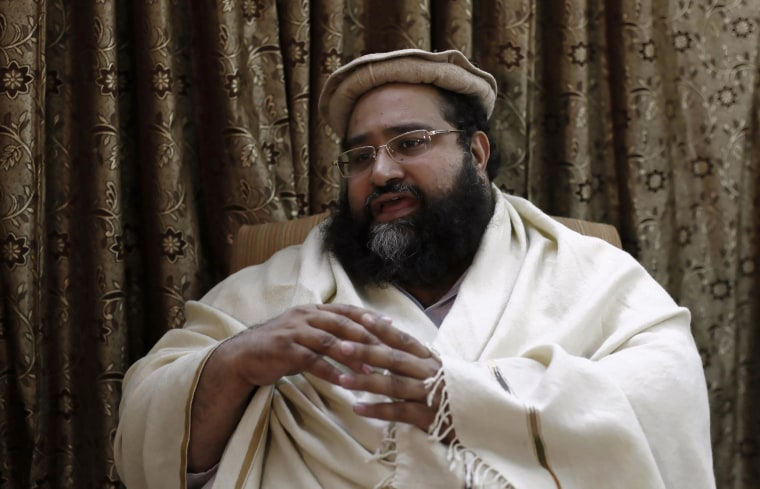 Ashrafi speaks during an interview with Reuters in Islamabad
