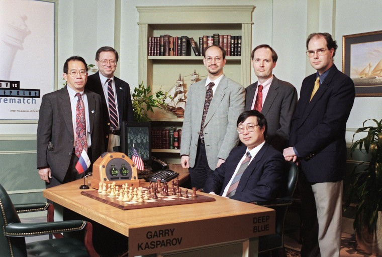 Image: The IBM Deep Blue chess computer team