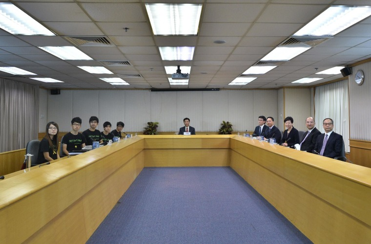 Image: Leaders of the Hong Kong Federation of Students