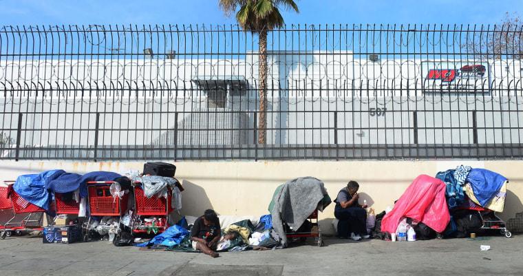 Image: Homeless encampment