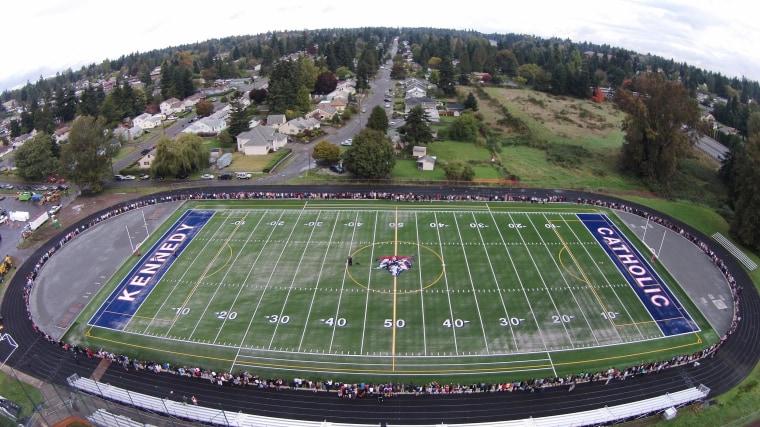 Image: Kennedy Catholic High School football field