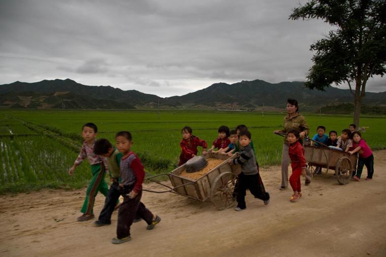 Image: A rural road in North Korea