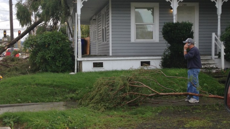 Image: Tornado damage in Longview, Washington