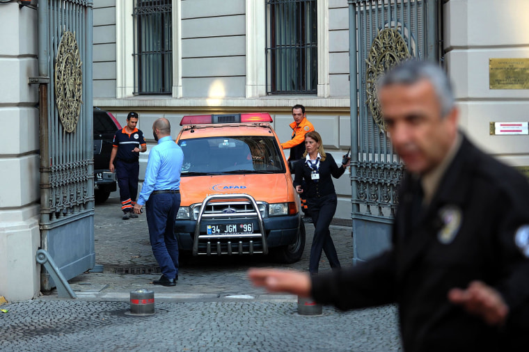 Image: TURKEY-GERMANY-CONSULATE-POLICE