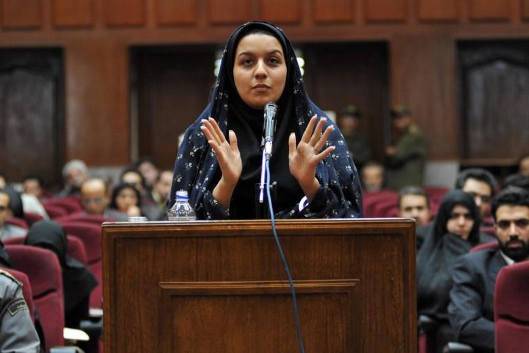 Image: Iranian Rayhaneh Jabbari executed