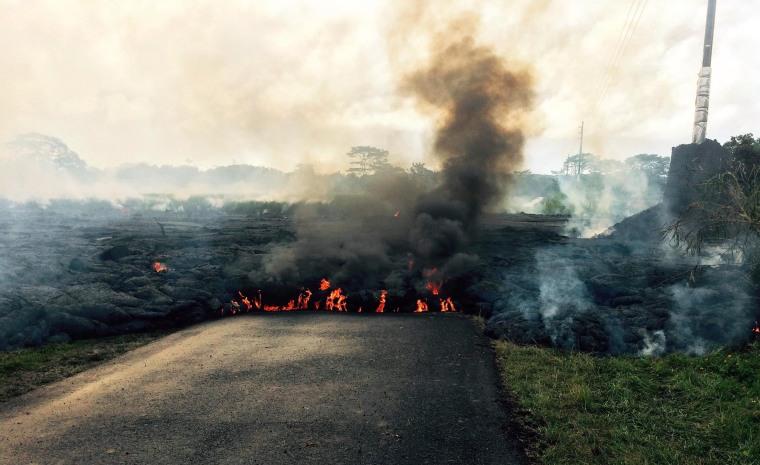 Image: Lava flow from Kilauea Volcano