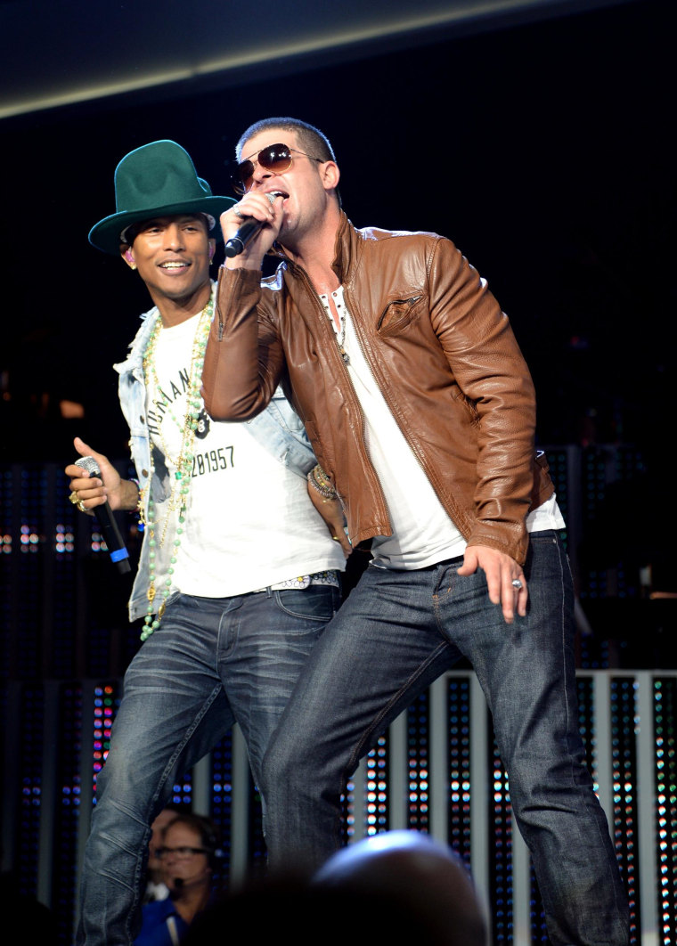 Image: Pharrell Williams and Robin Thicke