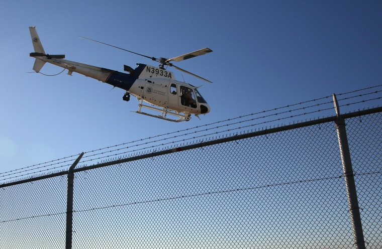 Image: A file photo of an helicopter used to patrol the U.S.-Mexico border.